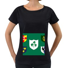 Ireland National Rugby Union Flag Women s Loose-Fit T-Shirt (Black)