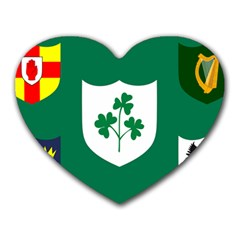 Ireland National Rugby Union Flag Heart Mousepads