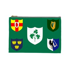 Ireland National Rugby Union Flag Cosmetic Bag (Large)