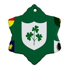 Ireland National Rugby Union Flag Ornament (Snowflake)