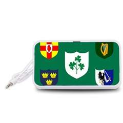 Ireland National Rugby Union Flag Portable Speaker (White)