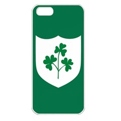 Ireland National Rugby Union Flag Apple iPhone 5 Seamless Case (White)