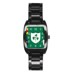 Ireland National Rugby Union Flag Stainless Steel Barrel Watch
