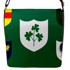 Ireland National Rugby Union Flag Flap Messenger Bag (S)
