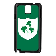 Ireland National Rugby Union Flag Samsung Galaxy Note 3 N9005 Case (Black)
