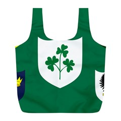 Ireland National Rugby Union Flag Full Print Recycle Bags (L)