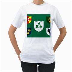 Ireland National Rugby Union Flag Women s T-Shirt (White)