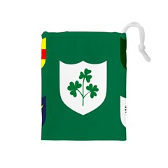 Ireland National Rugby Union Flag Drawstring Pouches (Medium)
