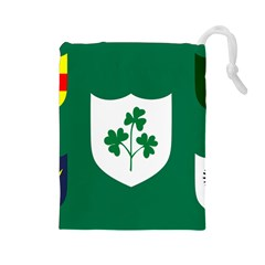 Ireland National Rugby Union Flag Drawstring Pouches (Large)