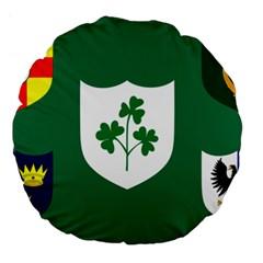 Ireland National Rugby Union Flag Large 18  Premium Flano Round Cushions