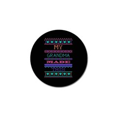 My Grandma Made This Ugly Holiday Black Background Golf Ball Marker (4 pack)