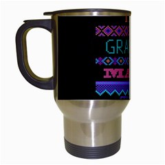 My Grandma Made This Ugly Holiday Black Background Travel Mugs (White)
