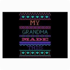 My Grandma Made This Ugly Holiday Black Background Large Glasses Cloth (2-Side)