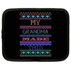 My Grandma Made This Ugly Holiday Black Background Netbook Case (Large)