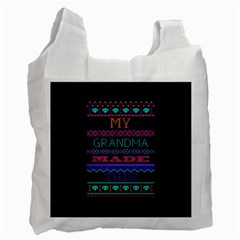 My Grandma Made This Ugly Holiday Black Background Recycle Bag (One Side)