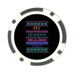 My Grandma Made This Ugly Holiday Black Background Poker Chip Card Guard (10 pack)