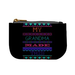 My Grandma Made This Ugly Holiday Black Background Mini Coin Purses
