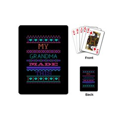 My Grandma Made This Ugly Holiday Black Background Playing Cards (Mini)