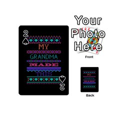 My Grandma Made This Ugly Holiday Black Background Playing Cards 54 (Mini)