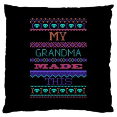 My Grandma Made This Ugly Holiday Black Background Large Cushion Case (One Side)