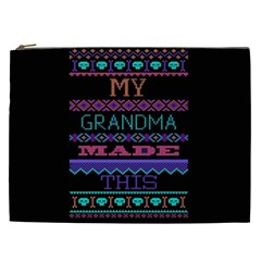 My Grandma Made This Ugly Holiday Black Background Cosmetic Bag (XXL)