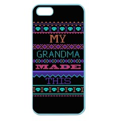 My Grandma Made This Ugly Holiday Black Background Apple Seamless iPhone 5 Case (Color)