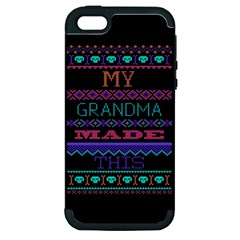 My Grandma Made This Ugly Holiday Black Background Apple iPhone 5 Hardshell Case (PC+Silicone)