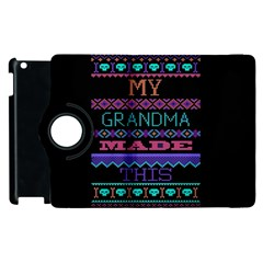 My Grandma Made This Ugly Holiday Black Background Apple iPad 2 Flip 360 Case
