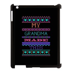 My Grandma Made This Ugly Holiday Black Background Apple iPad 3/4 Case (Black)