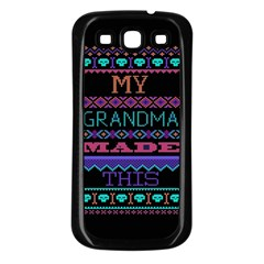 My Grandma Made This Ugly Holiday Black Background Samsung Galaxy S3 Back Case (Black)