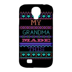 My Grandma Made This Ugly Holiday Black Background Samsung Galaxy S4 Classic Hardshell Case (PC+Silicone)