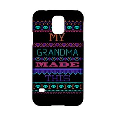 My Grandma Made This Ugly Holiday Black Background Samsung Galaxy S5 Hardshell Case