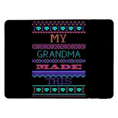 My Grandma Made This Ugly Holiday Black Background Samsung Galaxy Tab Pro 12.2  Flip Case