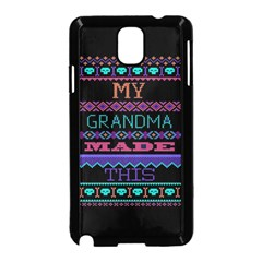 My Grandma Made This Ugly Holiday Black Background Samsung Galaxy Note 3 Neo Hardshell Case (Black)