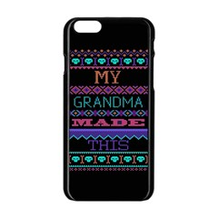 My Grandma Made This Ugly Holiday Black Background Apple iPhone 6/6S Black Enamel Case