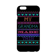 My Grandma Made This Ugly Holiday Black Background Apple iPhone 6/6S Hardshell Case