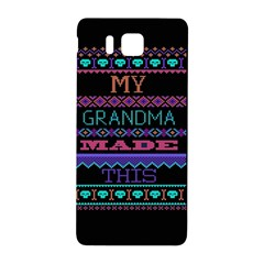 My Grandma Made This Ugly Holiday Black Background Samsung Galaxy Alpha Hardshell Back Case