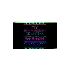 My Grandma Made This Ugly Holiday Black Background Cosmetic Bag (XS)