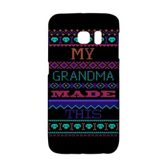My Grandma Made This Ugly Holiday Black Background Galaxy S6 Edge
