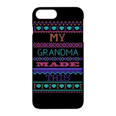 My Grandma Made This Ugly Holiday Black Background Apple iPhone 7 Plus Hardshell Case
