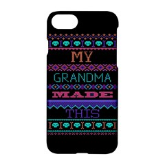 My Grandma Made This Ugly Holiday Black Background Apple iPhone 7 Hardshell Case