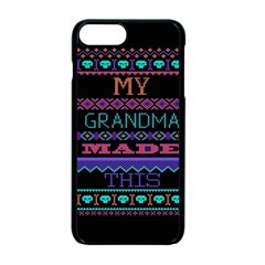 My Grandma Made This Ugly Holiday Black Background Apple iPhone 7 Plus Seamless Case (Black)