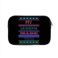 My Grandma Made This Ugly Holiday Black Background Apple MacBook Pro 15  Zipper Case