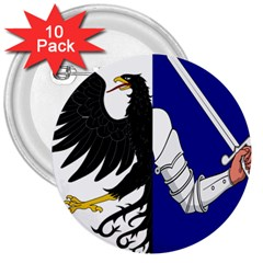 Flag of Connacht 3  Buttons (10 pack)