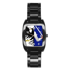 Flag of Connacht Stainless Steel Barrel Watch