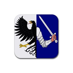 Flag of Connacht Rubber Square Coaster (4 pack)