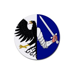 Flag of Connacht Rubber Round Coaster (4 pack)