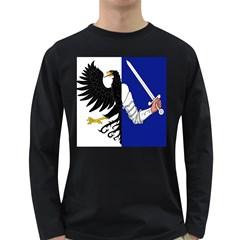 Flag of Connacht Long Sleeve Dark T-Shirts