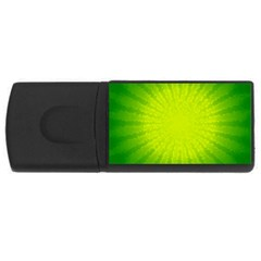 Radial Green Crystals Crystallize USB Flash Drive Rectangular (1 GB)