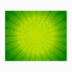 Radial Green Crystals Crystallize Small Glasses Cloth (2-Side)